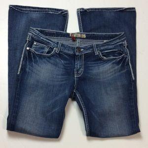 BKE Star Flare Stretch Womens Jeans Sz 32X33 1/2